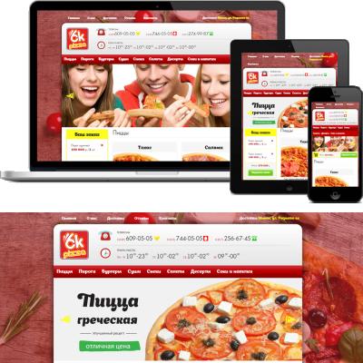 Сайт доставки пиццы - ok-pizza.by